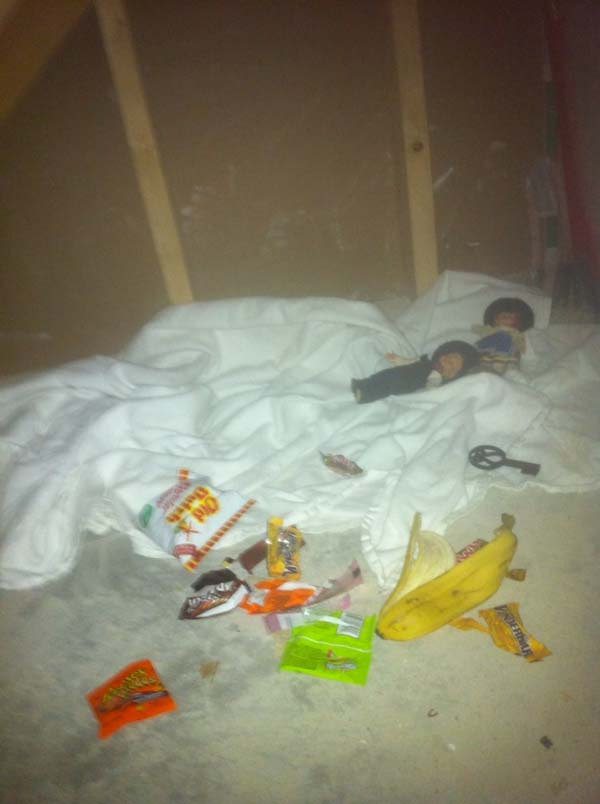 Inside, the two boys found the most terrifying thing: evidence that someone was squatting. In their own walls.