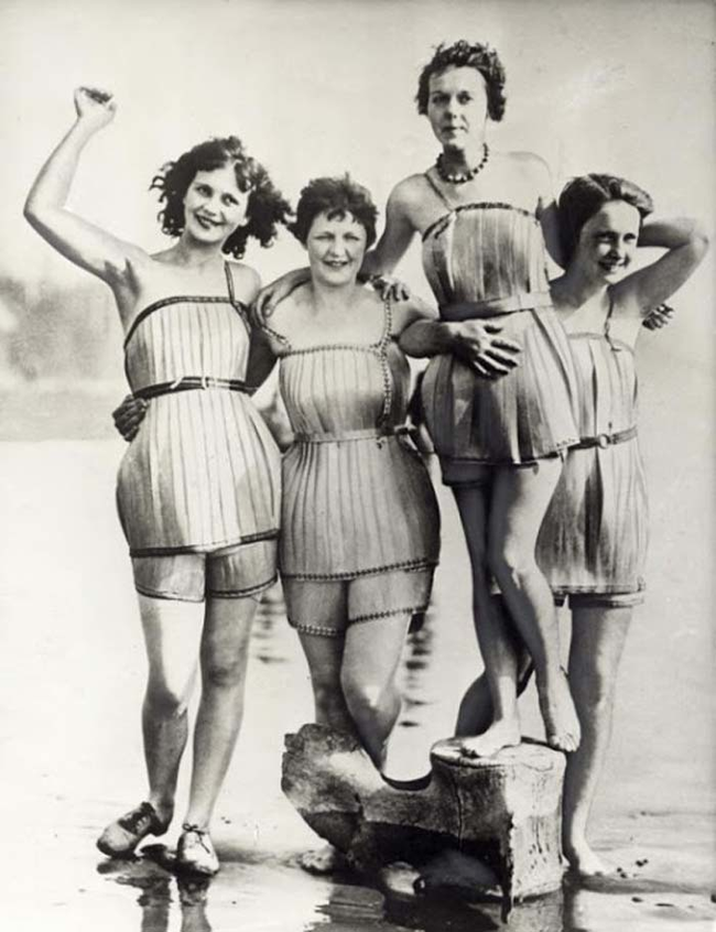 4.) Wooden Bathing Suits.