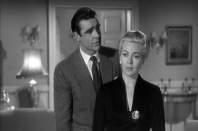 """While filming Another Time, Another Place in 1958, Sean Connery's love scene with co-star Lana Turner was so convincing that her real-life boyfriend <a href=""""http://en.wikipedia.org/wiki/Another_Time,_Another_Place_(1958_film)"""">pulled a real-life gun</a> on Connery. Thinking quickly, he grabbed the man's wrist and twisted the weapon free. Her boyfriend fled the set and was eventually killed by Turner's daughter."""