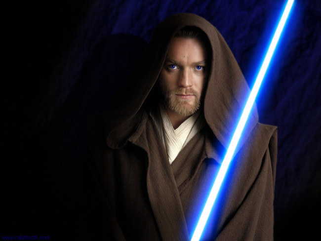 """George Lucas repeatedly informed Ewan McGregor that he didn't need to make the lightsaber noise while filming Star Wars: Episode I, but Ewan <a href=""""http://www.imdb.com/name/nm0000191/bio"""">continued to imitate it</a> throughout the shoot. His excuse? """"I keep getting carried away."""""""