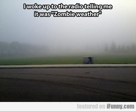 I Woke Up To The Radio Telling Me It Was Zombie...