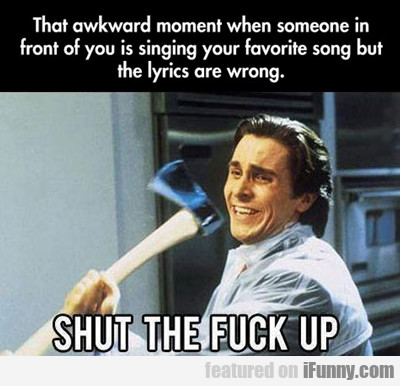 That Awkward Moment When Someone In Front Of...