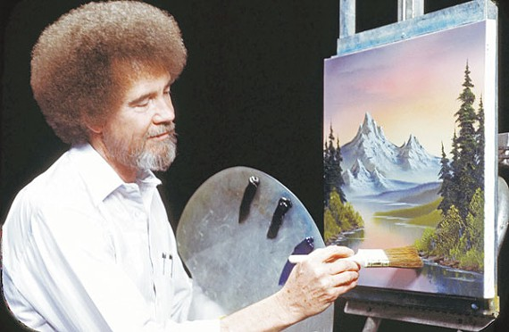 What if Bob Ross was a serial killer, & he painted the landscapes of where he hid the bodies.