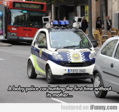 A Baby Police Car...