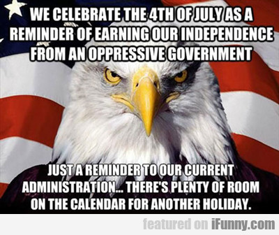 We Celebrate The 4th Of July...