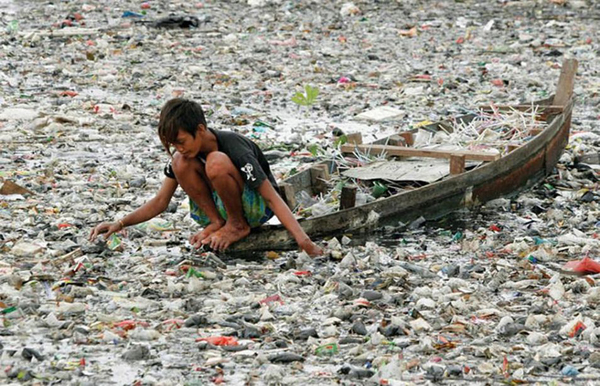 It is known as the most polluted river in the world, and we can see why.
