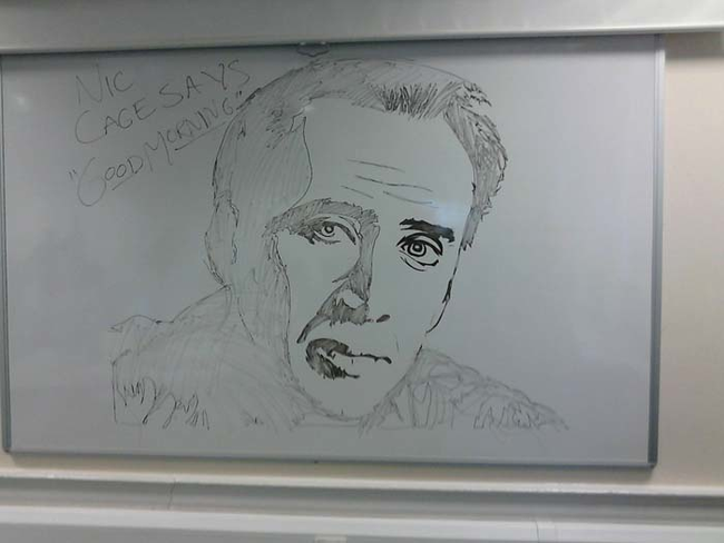 14.) Start your day with coffee and Nic Cage.