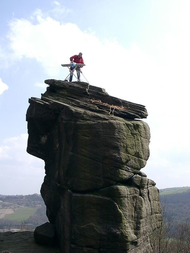 2.) Extreme Ironing: It's all about who can iron in the most remote/dangerous place possible. People say I'm weird for not owning an iron, but, I mean, this is way weirder, right? (Please tell my mom you agree.)