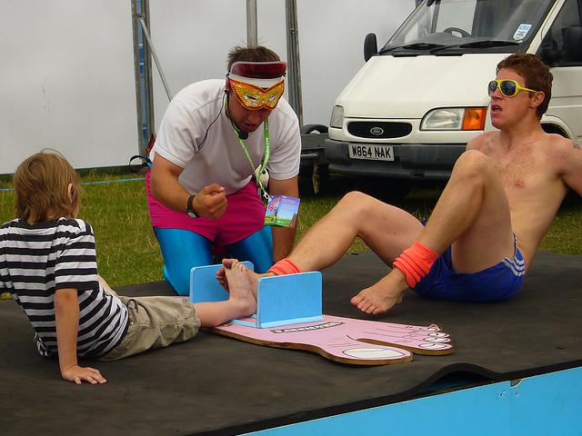 5.) Toe wrestling: Like thumb wrestling, but presumably smellier.