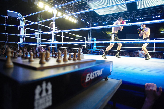 8.) Chess-boxing: Two opponents/ combatants alternate between moving the chess pieces and beating the crud out of each other.