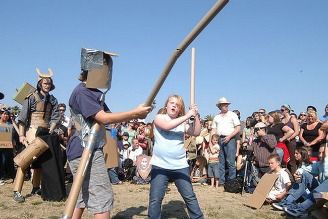 11.) Cardboard Tube Fighting: Well so, you get a cardboard tube and you beat up other nerds up with it. The sport is surprisingly organized with the Cardboard Fighting League sponsoring games all over the Northwest.