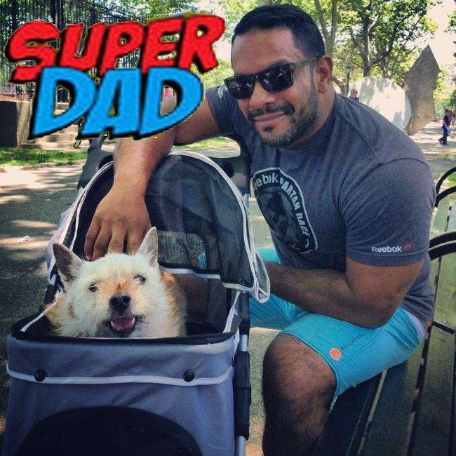 James is hands down the most super of super pet dads.