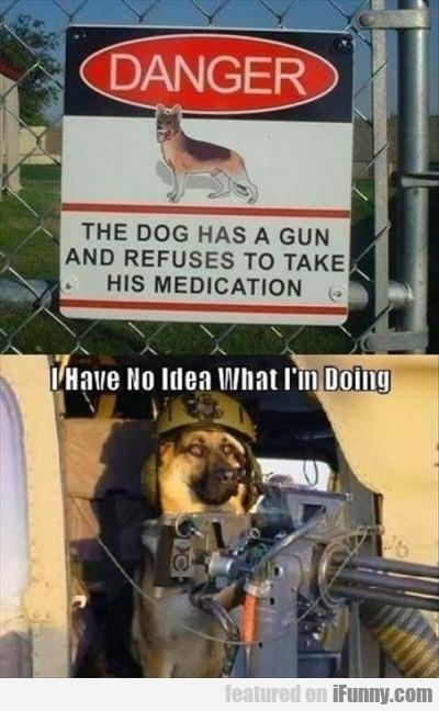 Danger. The Dog Had A Gun